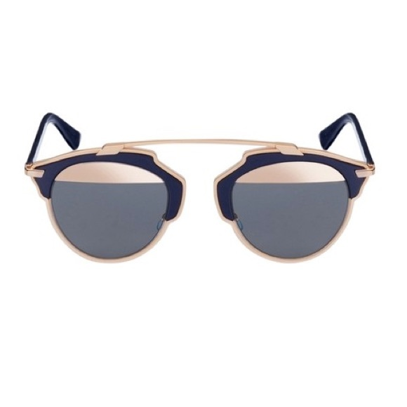 fbc9c4c30f73f Dior Accessories - Christian Dior so real navy rose gold sunglasses